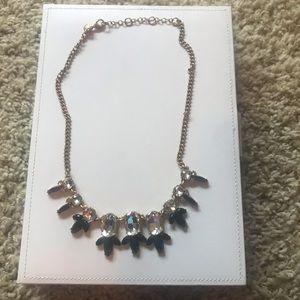 J CREW Black & Gold Statement Necklace